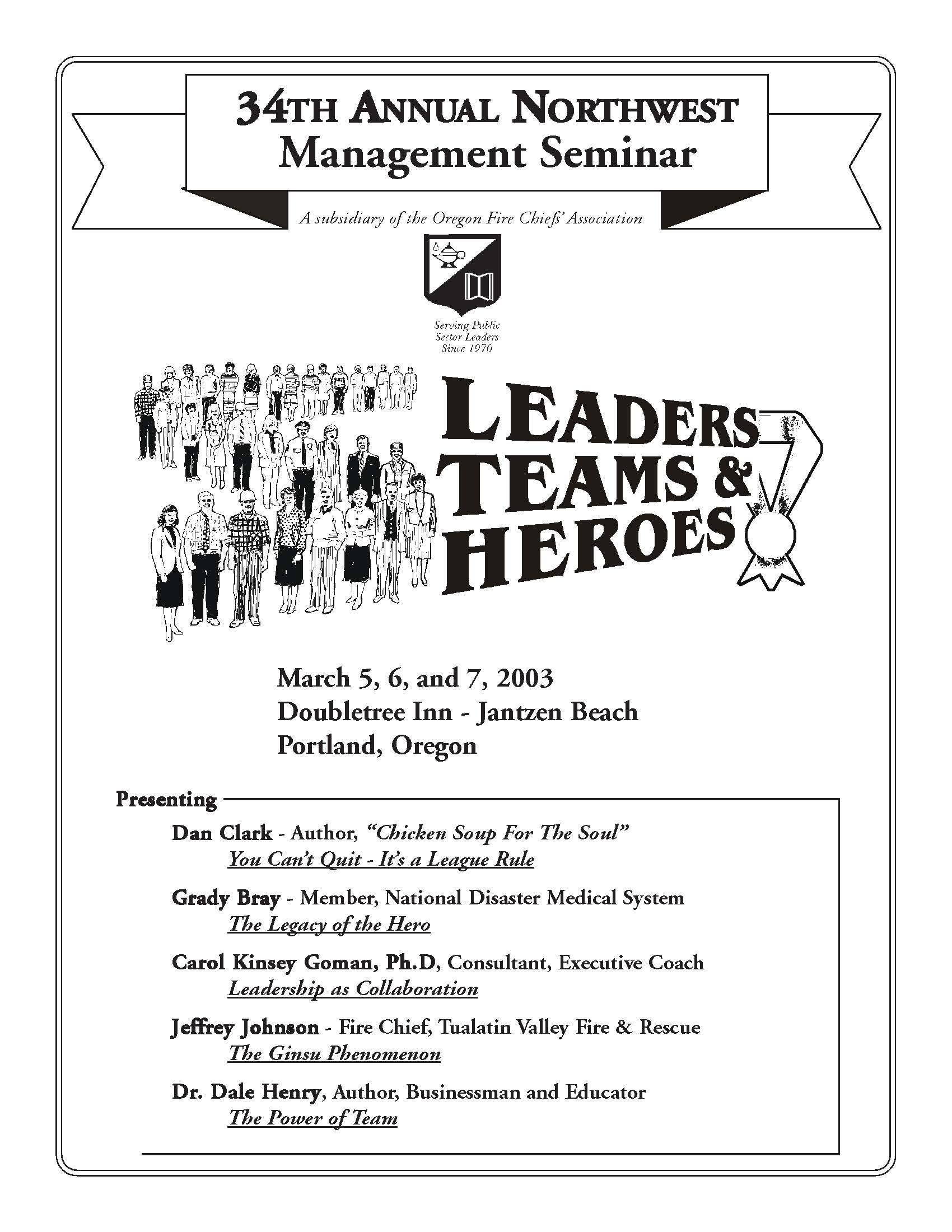 Past Seminars Northwest Leadership Seminar